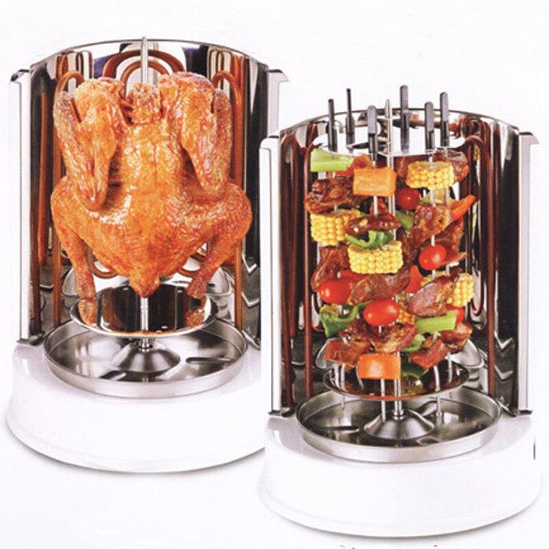 Barbecue électrique à rotation verticale, barbecue automatique en acier inoxydable pour gril domestique, barbecue rotatif très sain et facile à nettoyer