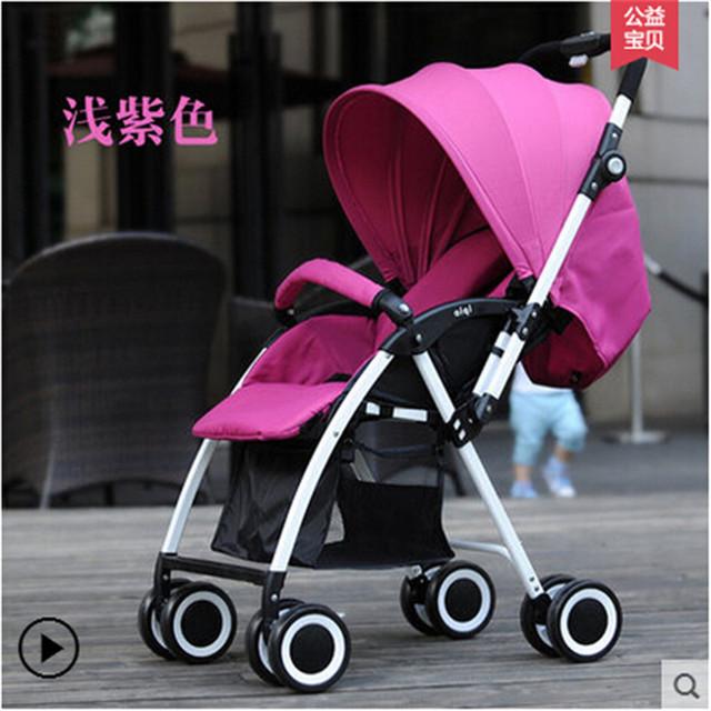 Cochecito de bebé 3 en 1 Cochecitos de Bebé, Asiento de Alta Vista, 2 Ruedas Neumáticas + 2 Rueda De EVA paisaje alta cochecitos