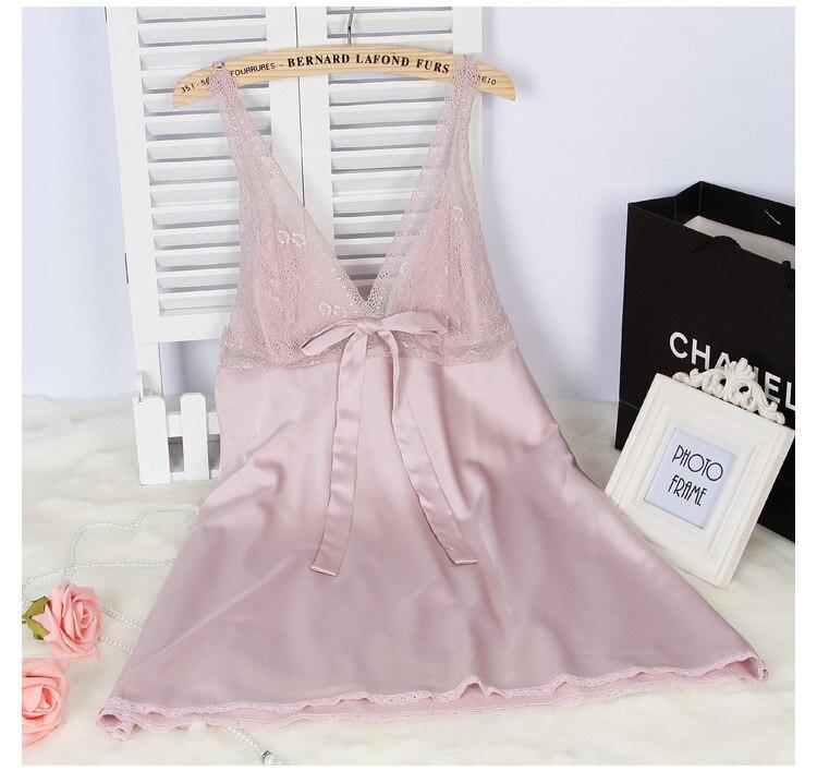 2016 rayon silk women s sleepwear spaghetti strap slim waist sexy font b nightgown b font