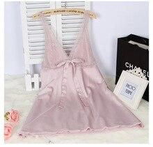 2016 rayon silk women's sleepwear spaghetti strap slim waist sexy nightgown loungewear lace sleepshirt sleepwear
