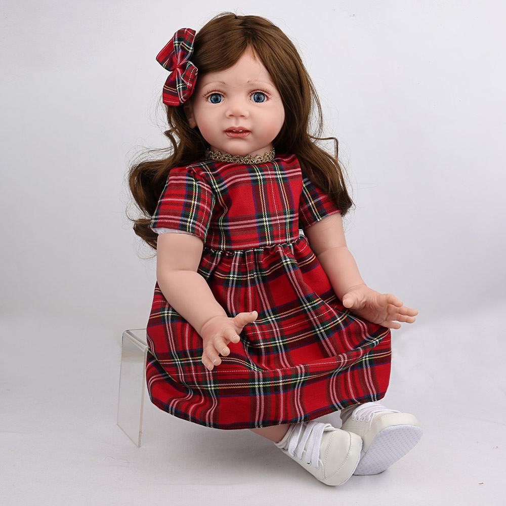 60cm reborn Silicone Reborn lifelike princess toddler Baby Realistic Doll 24inch Boneca baby collectible doll play house toys60cm reborn Silicone Reborn lifelike princess toddler Baby Realistic Doll 24inch Boneca baby collectible doll play house toys