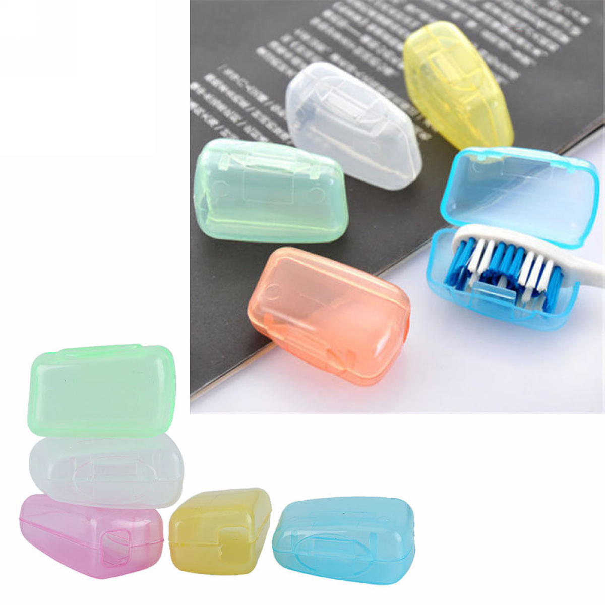 10pcs/Set Portable Travel Toothbrush Head Cover Case Protective Caps Health  Germproof Wash Toilet Supplies-in Bathroom Accessories Sets from Home &