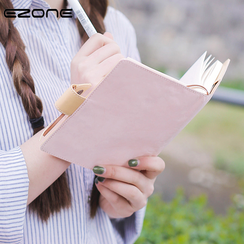 EZONE Notebook Sakura Cute PU Daily Memos Colored Illustrated Pages Agenda Personal Notes Planner Organizer Series Travel Books girly notebook stationery suit clips pens daily plan agenda sticky notes great value planner organizer set cute journals series