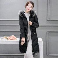 Women Winter Coat 2018 Top quality Women Jacket Park Women's Winter long slim cotton thick zipper pocket women coats plus size