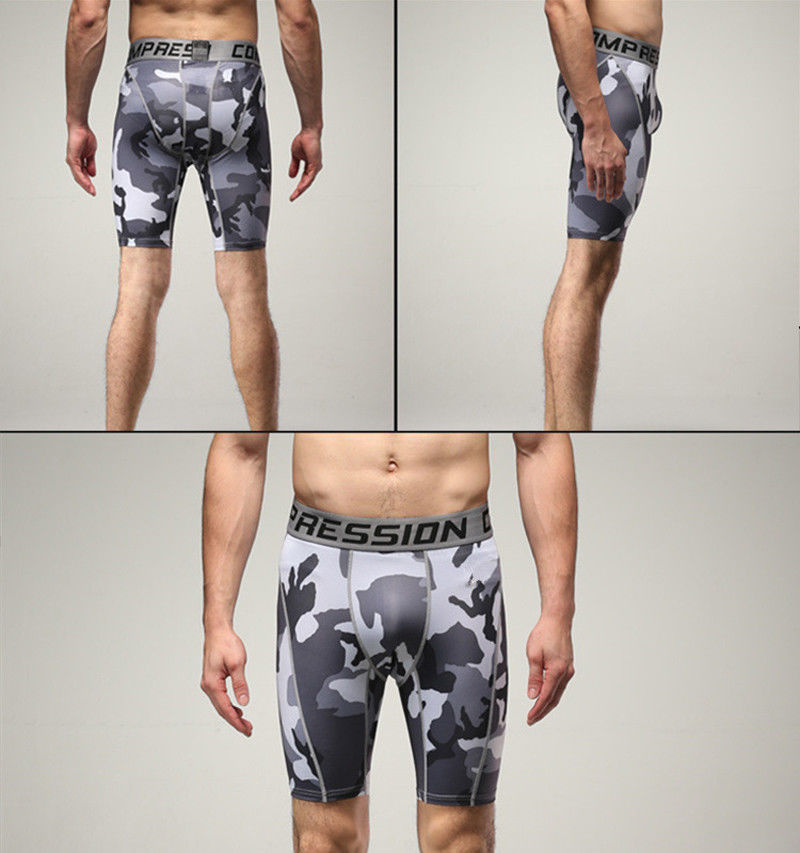 Professional Sale Men Compression Shorts Pants Fitness Pouch Camouflage Short Underwear Board Short Pants Beach Pants Men's Clothing