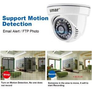 Smar HD ip-камера с 18 шт. Nano IR светодиодный 720 P/960 P домашняя камера видеонаблюдения Поддержка внешнего звукоснимателя микрофон Onvif