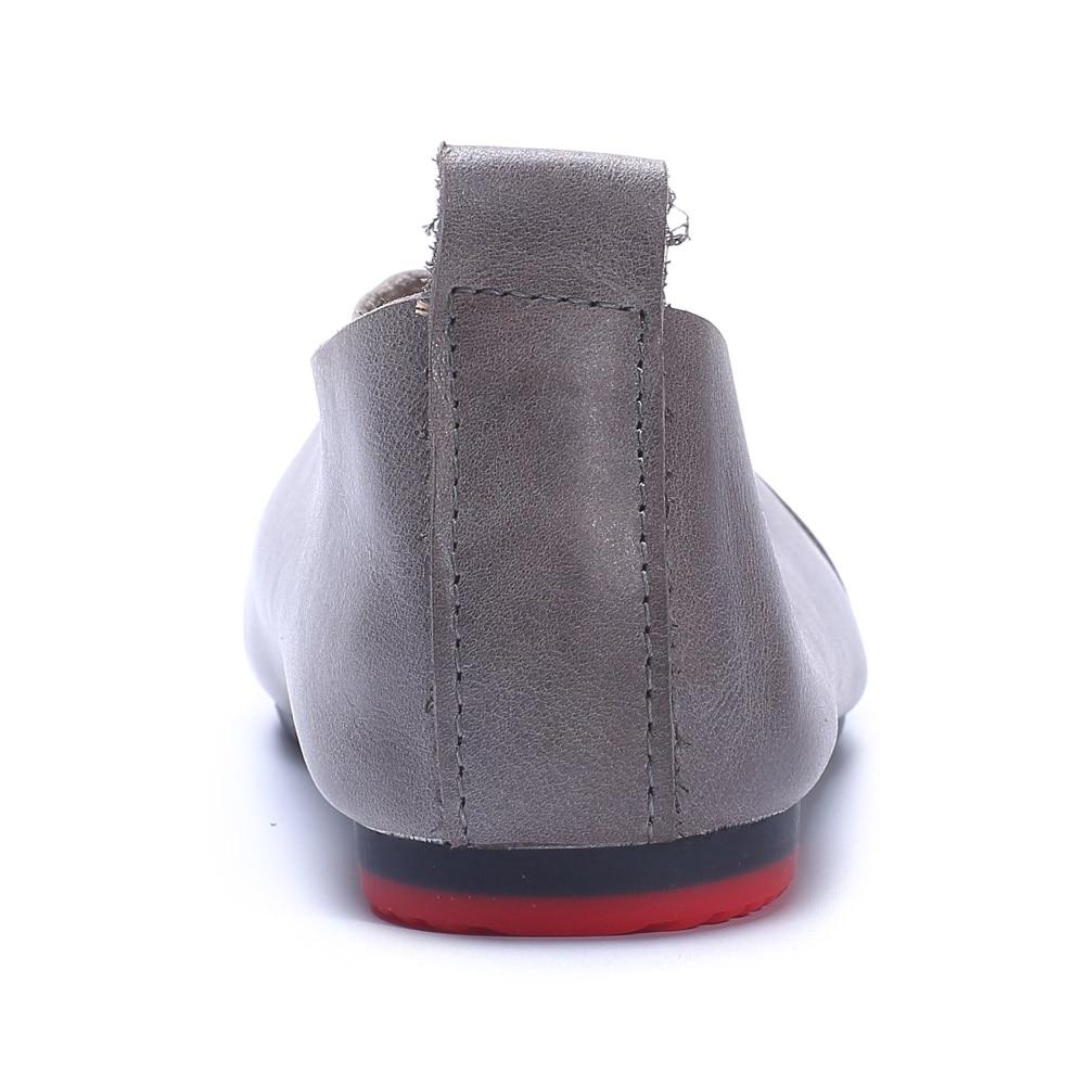 Ballerines Femme Beige Ceyaneao Ohanna Rond Appartements Bout Plates Sur grey Cuir Véritable En Slip Femmes 703 Chaussures D'été 2 YCSCwq