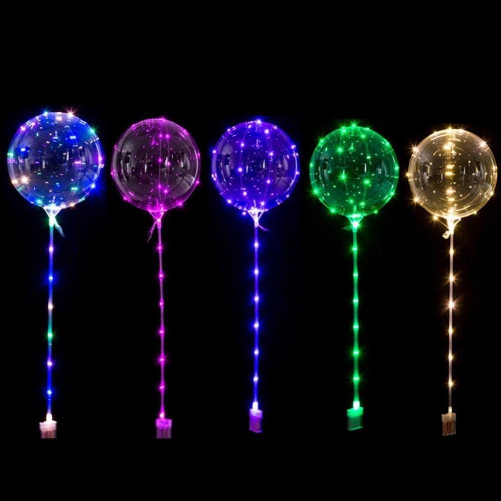 Globo Led Luminoso Reutilizable Decoración de fiesta de boda de burbuja transparente redondo