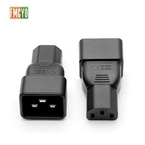 Image 2 - PDU power conversion plug 10a te 16A drie verticale gat om drie horizontale ce certificering woord connector C13 om C20 hoofd