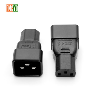 Image 2 - PDU power conversion plug 10a to 16A three vertical hole to three horizontal CE certification word connector C13 to C20 head