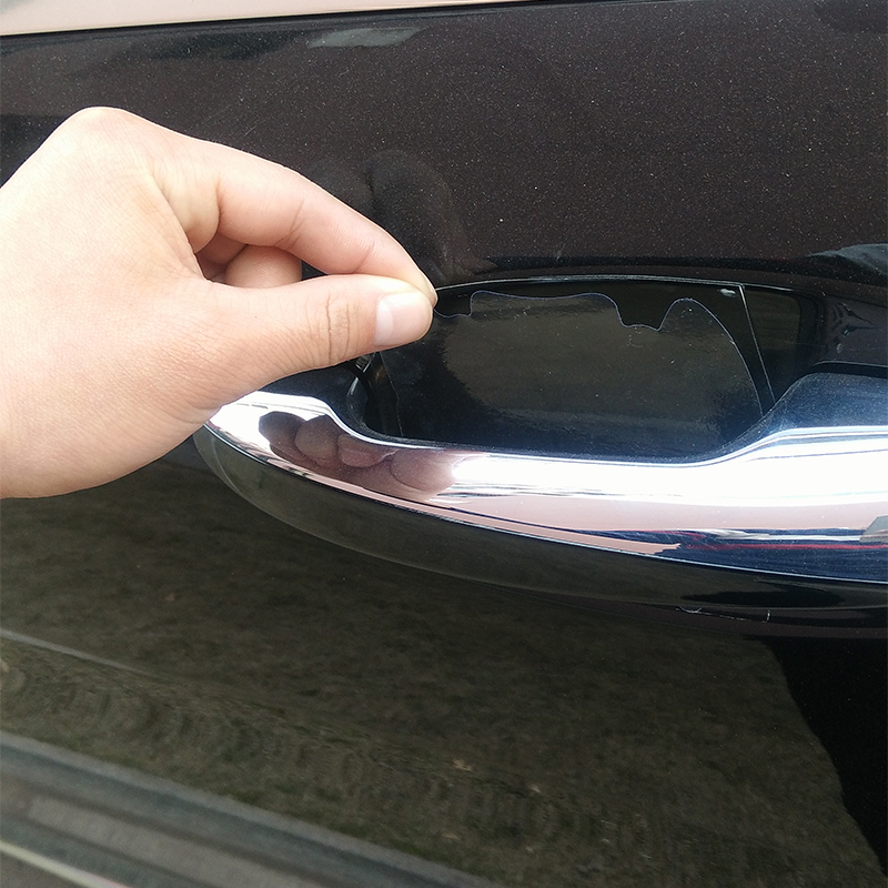 car-styling Universal 4Pcs Door Handle Protective Film For toyota bmw mazda Wrist Of Door Protective Film For ford opel peugeot