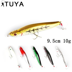 TUYA 9.5cm 10g Stickbait Pencil Fishing Lure big Minnow Artificial Bait Bionic fish Stick hard bait 3D Eyes Floating topwater