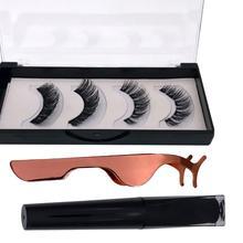 POP ITEM! Magnetic Liquid Eyeliner Faux Eyelash Lashes Set w