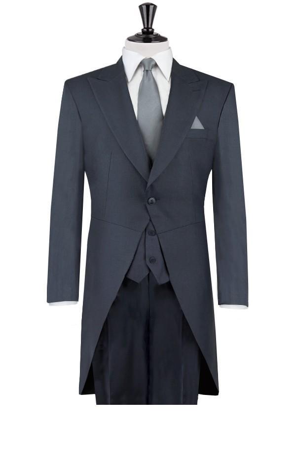사용자 정의 만든 된 겨울 공식적인 회색 charcoaluniform 스타일 바지 정장 작업 착용 공식적인 웨딩 의류 (자 켓 + 바지 + 조끼 + 넥타이)-에서정장부터 남성 의류 의  그룹 1