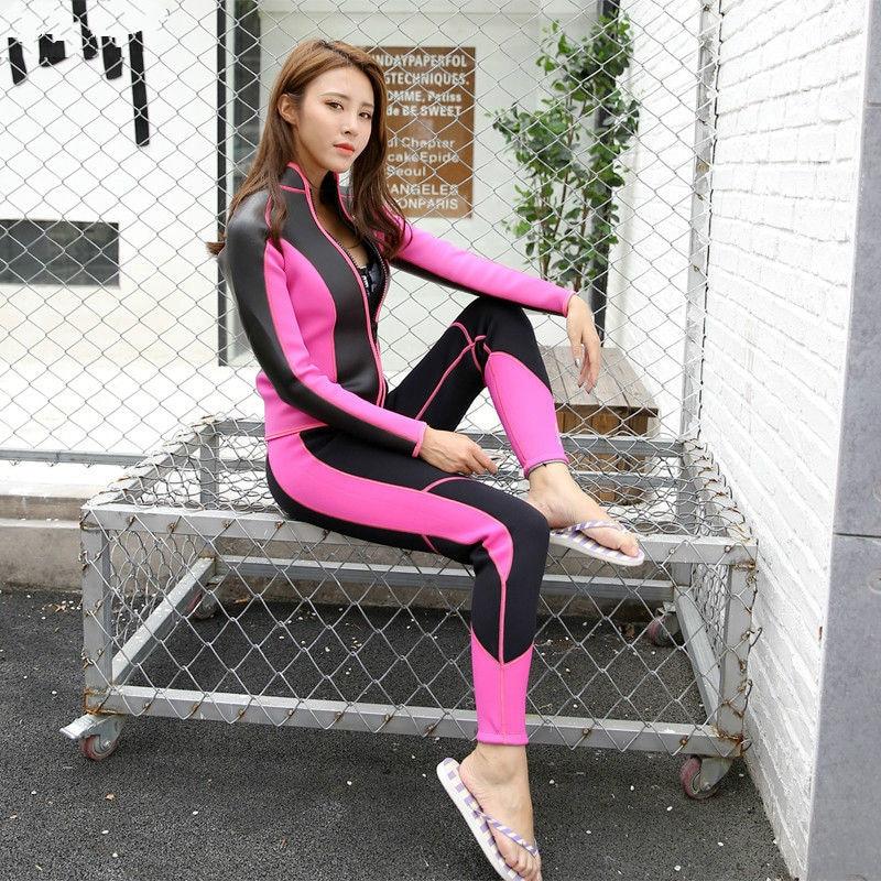 2018 Hisea seac 2 5 mm Women Diving Equipment bodysuit coat trousers Rashguard Tights Neoprene Wetsuit