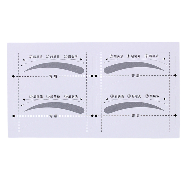 8 Pairs DIY Make Up Tools Grooming Shaping Bend Eyebrow Template Stickers 5