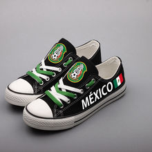 9ed7345c73f556 E-LOV New Arrival Print Mexique Canvas Shoes Women Girls Customized Mexico Fans  Printed Canvas