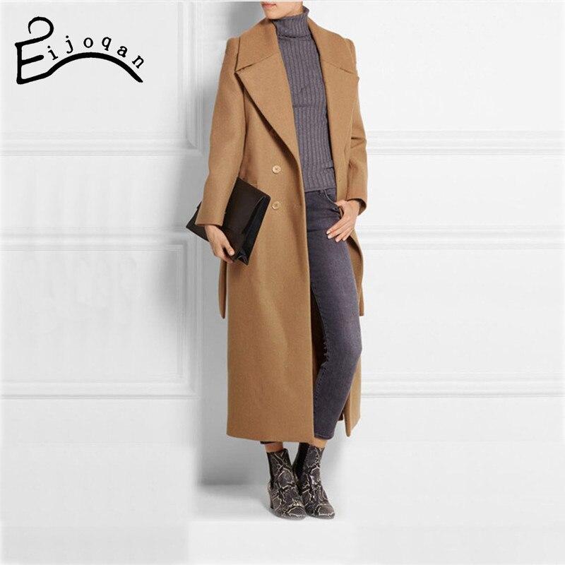 Longue gris Feminino En Simple Manteau camel Laine Automne Femmes 2018 Robe Classique Femme Maxi Noir Grande Uk Taille Hiver Manteaux Casaco 4HqOWfOn