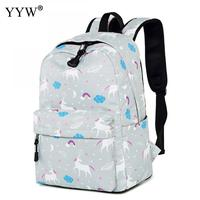 Nylon Small Backpack Female Waterproof School Backpacks for Children a case for Phone Horse Pattern High Quality Lady's Bags