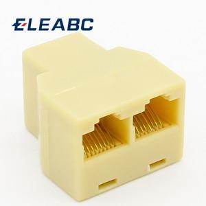 SOCKET RJ-45 Splitter Adatper Connector Ethernet Network Adapter RJ45 Splitter Cable CAT5 CAT6 LAN 8P8C Modular Plug For Laptop(China)