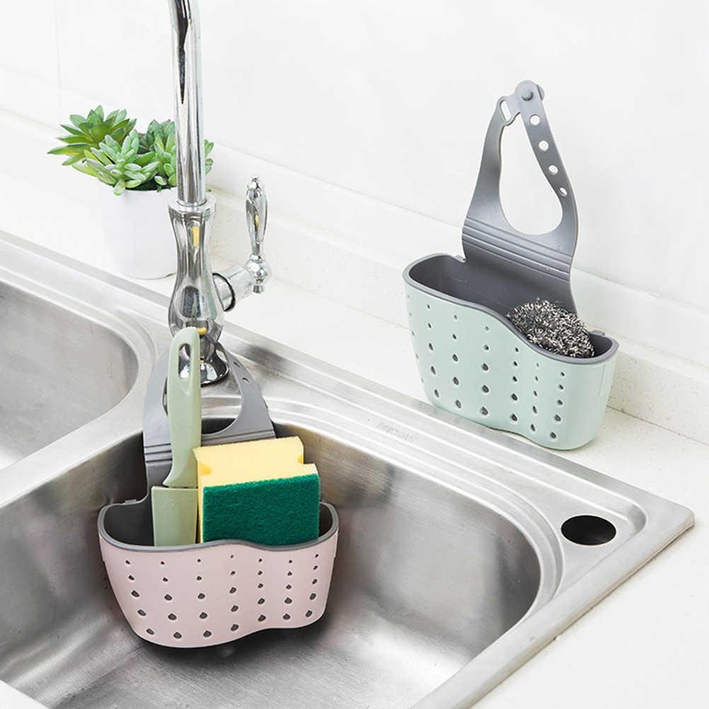 Kuchenny uchwyt do przechowywania przyssawka naczynia spustowy uchwyt mydło półka organizator kran gąbka kosz na stojaki umyć tkaniny narzędzia
