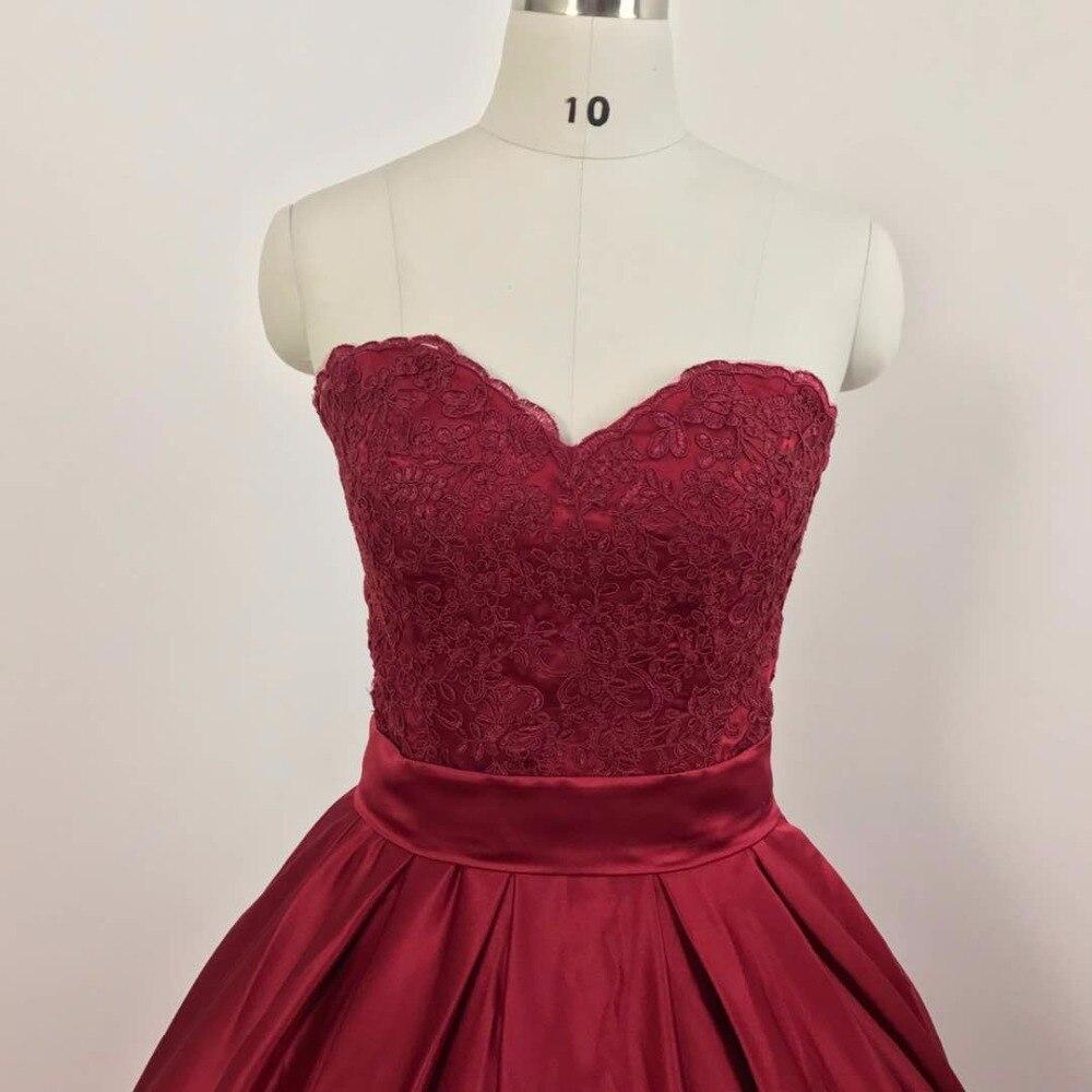 vinca sunny vestido de festa y Sweetheart prom dress Burgundy