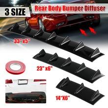 Gloss Black Universal Car Rear Bumper Diffuser Splitter Shark 3 5 7Fin Kit Rear Bumper Lip Spoiler For Honda For Toyota For Benz