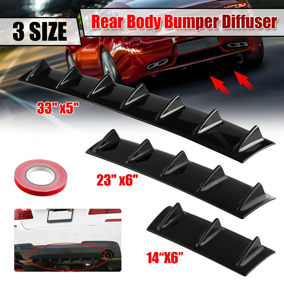 Połysk czarny uniwersalny tylny zderzak samochodowy dyfuzor Splitter rekina 3 5 7Fin zestaw tylny zderzak wargi spojler dla Honda dla Toyota dla Benz