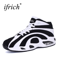Ifrich Basketball Shoes Men Women White Red Sneakers Basketball Comfortable Women Sport Shoes High Top Basketball