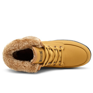 Image 2 - Christmas Winter Shoes Woman Warm Plush Furry Boots Snow Boots Outdoor Ankle Wedges Fur Boots Casual Shoes Zapatos De Mujer