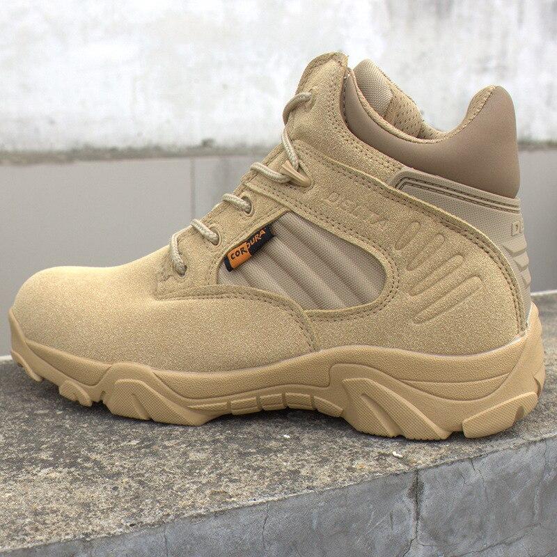 Hiver hommes Delta militaire bottes Force spéciale étanche tactique désert Combat cheville bateaux armée travail chaussures en cuir bottes de sécurité - 3