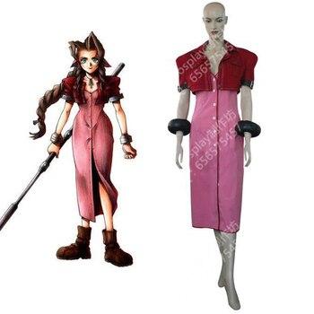 2016 Final Fantasy VII Aerith Gainsborough Cosplay vestido