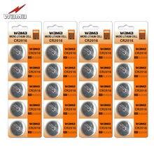 20 шт./4 упаковки, Литиевые кнопочные батарейки Wama CR2016 KCR2016 BR2016 LM2016, 3 в