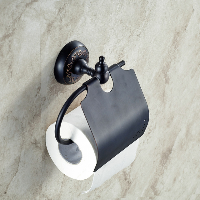 Wall Mounted Bathroom Oil Rubbed Bronze Toilet Paper Holder With