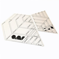 Free Shipping 2 Pcs Advanced Acrylic Patchwork Ruler Thickness 3mm Support Large Orders