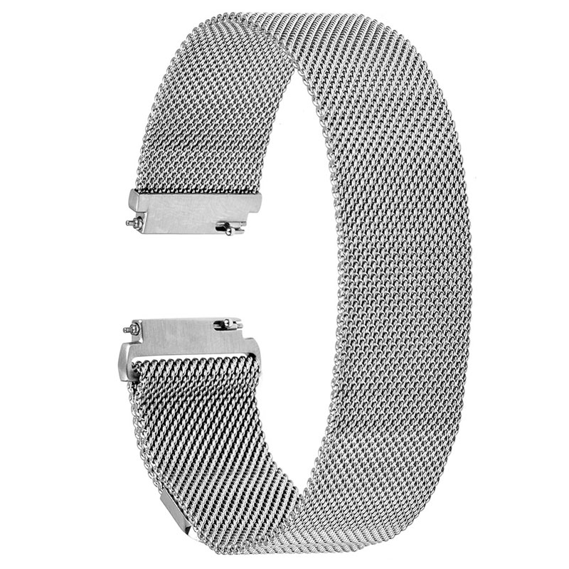 For Fitbit Blaze Watch Band 23mm Fashion Silver Black Golden Rose-gold Stainless Steel Mesh Wrist Watchband Replace Strap Unisex ysdx 398 fashion stainless steel self stirring mug black silver 2 x aaa