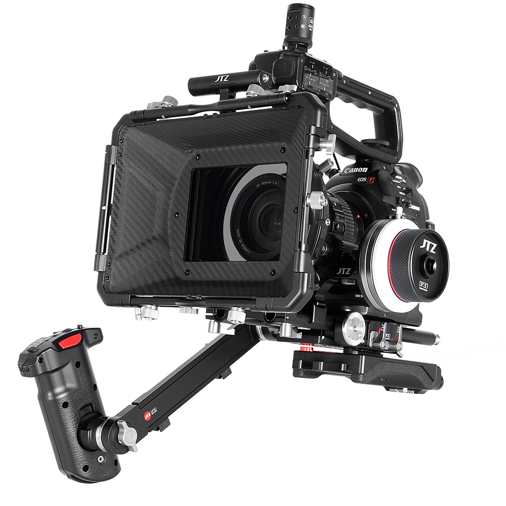 US $699 0 |JTZ DP30 Camera Cage Baseplate Shoulder Rig For Canon EOS C100  C300 C500 Mark II-in Photo Studio Accessories from Consumer Electronics on