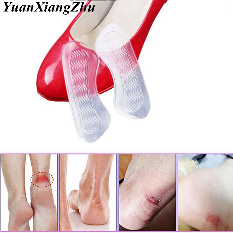1 Pair Soft Silicone Gel Women Heel Inserts Protector Foot Feet Care Shoe Insert Pads Insole Cushion Feet Care Accessories HD-X