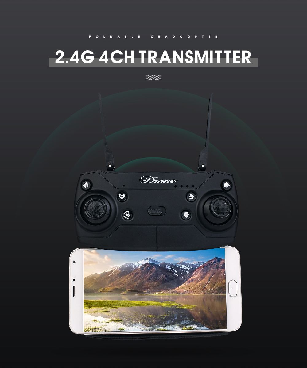14.New 2.4Ghz 4ch foldable FPV rc drone with 2MP wide angle wifi camera