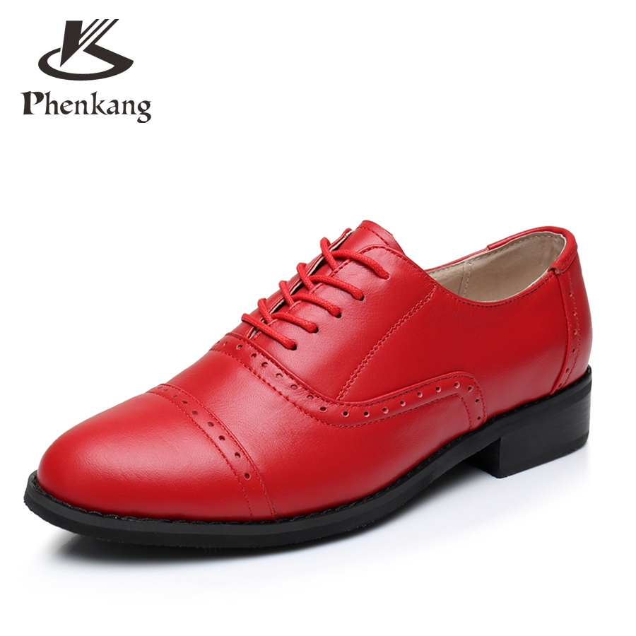 ФОТО Genuine leather big woman US9.5 US8.5 designer vintage shoes round toe handmade red 2017 sping oxford shoes for women fur