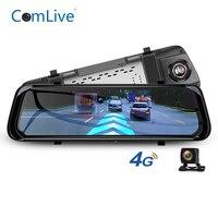 Camlive 4G ADAS Car DVR Camera 10 Stream Media Rear View Mirror Android 1080P WiFi GPS Dash Cam Registrar car Video Recorder