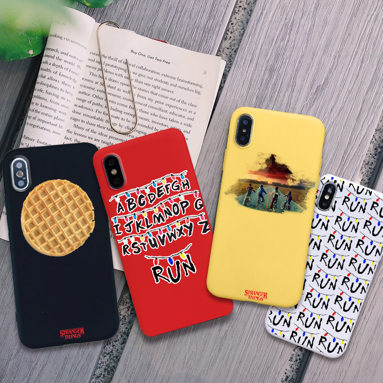 Stranger Things Phone Case For IPhone X XR XS MAX 6 7 8 Plus 6s TPU Soft Silicone Candy Color Cover