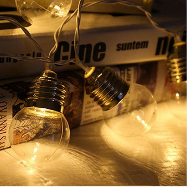 שמש מופעל 5 M 20 LED חתונת מחרוזת פיית אור LED גלוב לויה הנורה חם פיות מחרוזת אור חיצוני המפלגה גן זר