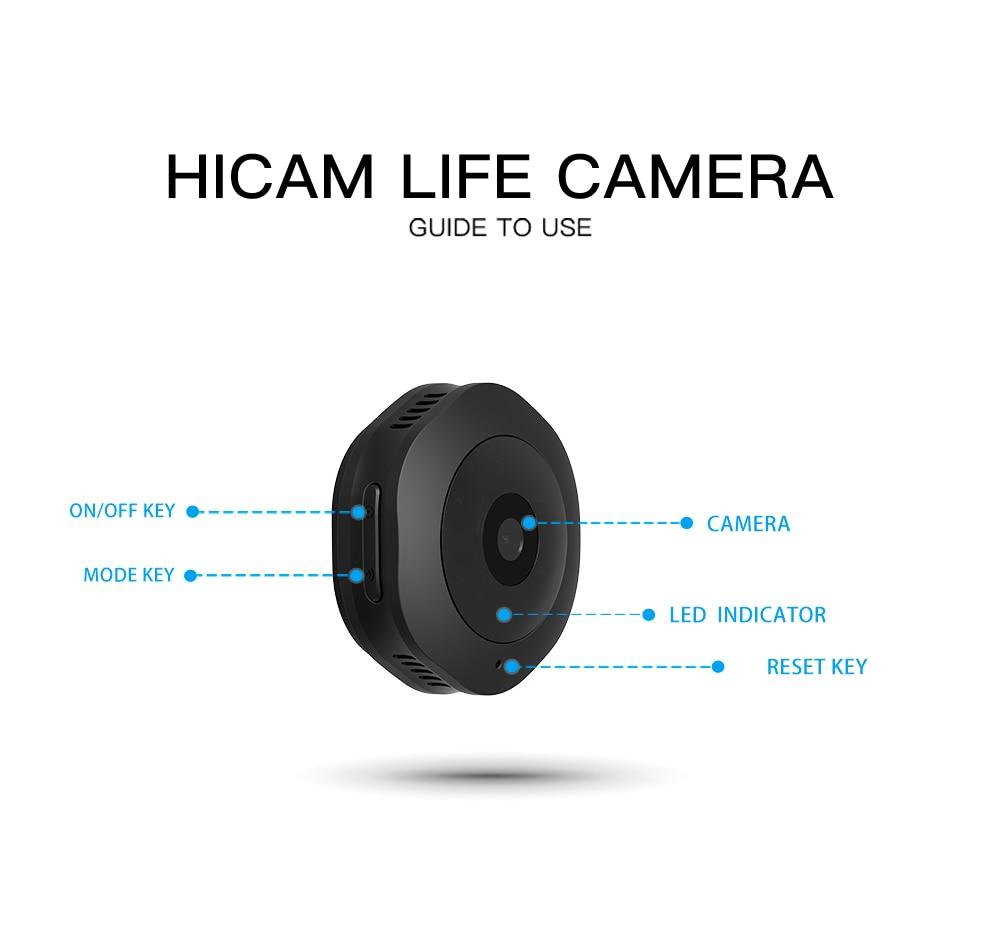 Volemer H6 DV/Wi-fi Micro Câmera Noite Versão Mini Action Camera com motion Sensor Camcorder Video Recorder Voz Pequena camer 1