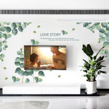 Green plant Wall Decal Sticker Home Decor DIY Removable Art Mural For Living Room/Sofa TV Background/Bedroom QTM495