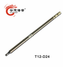 Gudhep T12-D24 Soldering Iron Tips for Hakko FM2027 FM2028 FX9501 Soldering Iron Handle
