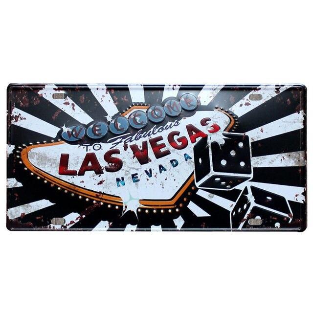 Tienda Online Las Vegas inicio decoración de pared de Metal cartel ...