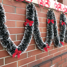 2 м Рождественская декоративная панель вершины лента гирлянда Рождественская елка украшения белый темно-зеленый тростниковая мишура вечерние принадлежности