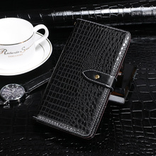 For Doogee Y8 Case Wallet Flip Luxury Crocodile Grain PU Leather Coque Phone for Cover Accessories