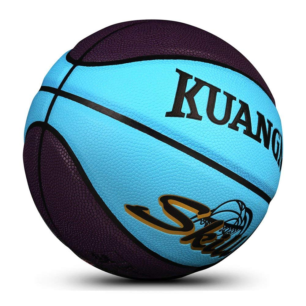 Kuangmi Multicolor Kids Game Basketball Women Men Shooting Trainer Ball Official Size 5 Outdoor Indoor Training